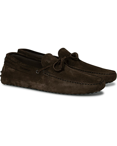 Tod's Laccetto Gommino Carshoe  Dark Brown Suede UK7 - EU41
