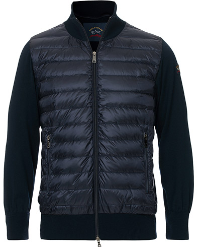 Paul&Shark Hybrid Full Zip Jacket Navy i gruppen Kläder / Jackor / Tunna jackor hos Care of Carl (16887911r)