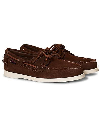 Sebago Docksides Suede Boat Shoe Dark Brown