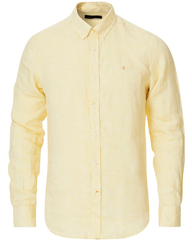 Morris Douglas Linen Shirt Yellow i gruppen Kläder / Skjortor / Casual hos Care of Carl (16903411r)