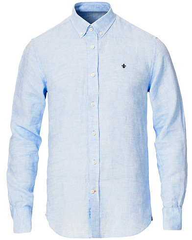Morris Douglas Linen Shirt Light Blue i gruppen Kläder / Skjortor / Casual hos Care of Carl (16903711r)