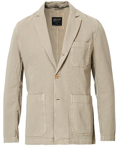 Morris Claridge Cotton Blazer Khaki