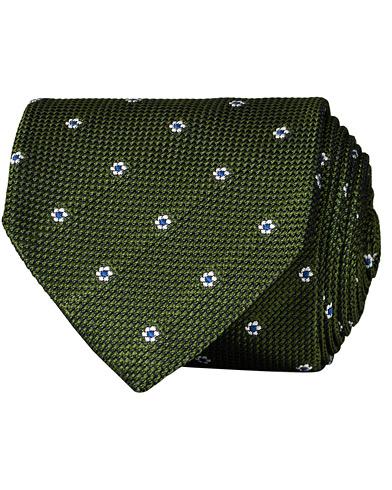 Drake's Silk Grenadine Woven 8 cm Tie Green