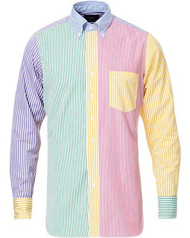 Drake's Striped Button Down Shirt Multi