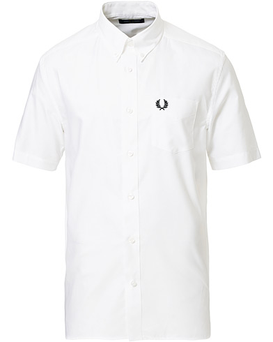 Classic Oxford Short Sleeve Shirt White i gruppen Kläder / Skjortor / Casual hos Care of Carl (17000411r)