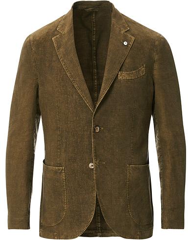 L.B.M. 1911 Jack Regular Fit Linen Blazer Light Green
