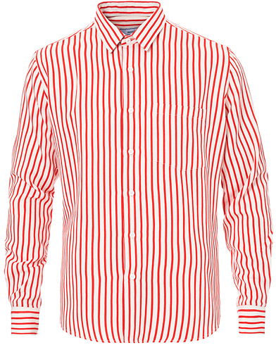 AMI Chemise Summer Fit Stripe Shirt White/Red