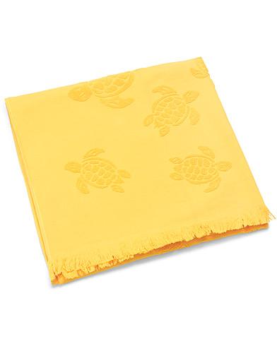 Vilebrequin Santah Jacquard Beach Towel Curry