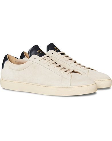 Zespà ZSP4 HGH Suede Sneakers Off White/Navy