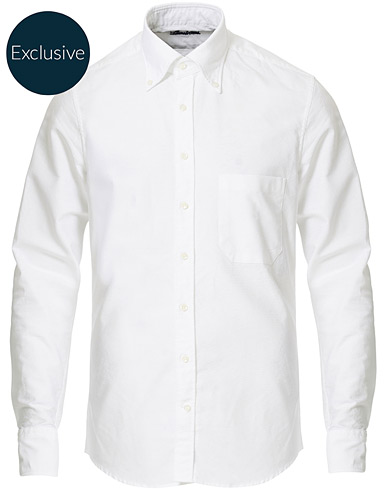 Stenströms Slimline Oxford Shirt White i gruppen Kläder / Skjortor / Casual / Oxfordskjortor hos Care of Carl (17078211r)