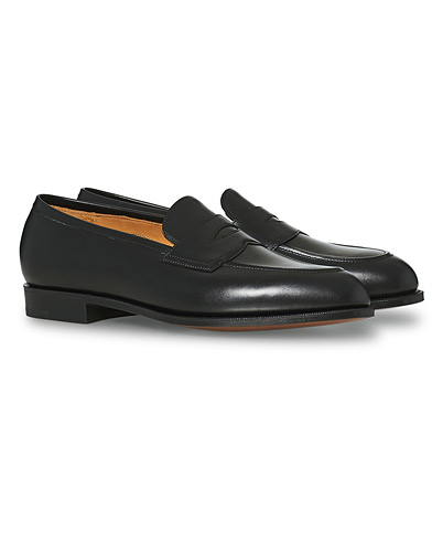 Edward Green Piccadilly Penny Loafer Black Calf i gruppen Skor / Loafers hos Care of Carl (17080411r)