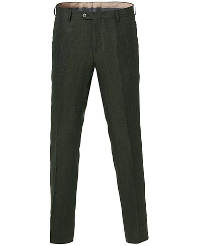 Oscar Jacobson Diego Linen Trousers Green