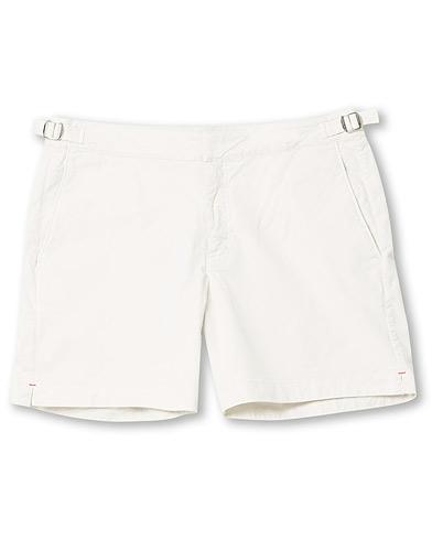 Orlebar Brown Bulldog Cotton Twill Shorts Chalk