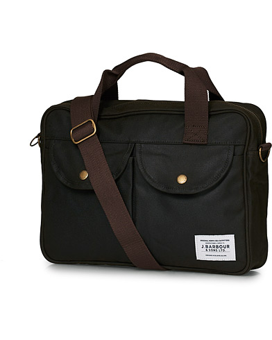 Barbour Lifestyle Longthorpe Laptop Bag Olive i gruppen Accessoarer / Väskor / Axelremsväskor hos Care of Carl (17154210)