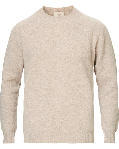 Shetland Crew Neck Sweater Sand