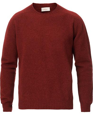 Shetland Crew Neck Sweater Rust