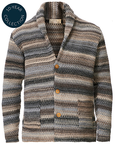 Altea Dégradé Shawl Collar Cardigan Grey/White i gruppen Kläder / Tröjor / Cardigans hos Care of Carl (19074511r)