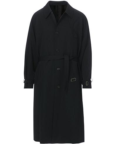 Camoshita Belted Wool Coat Classic Black