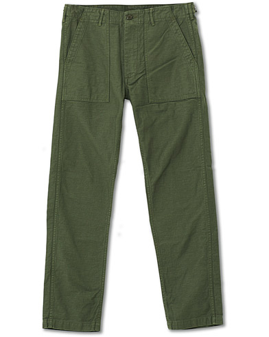 orSlow Slim Fit Original Sateen Fatigue Pants Army Green i gruppen Kläder / Byxor / Chinos hos Care of Carl (19240611r)