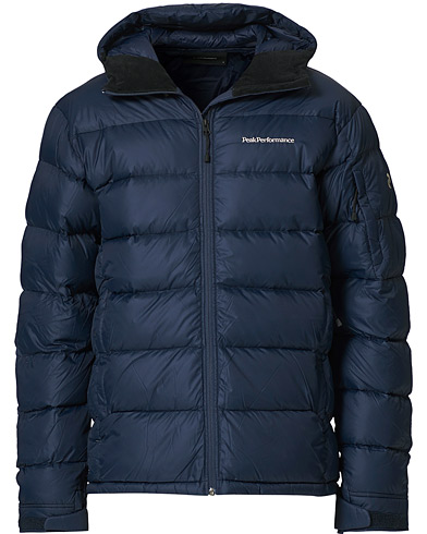 Peak Performance Frost Down Hooded Jacket Blue Shadow i gruppen Kläder / Jackor / Dunjackor hos Care of Carl (19250111r)