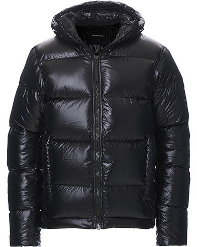 Peak Performance Rivel Vernis Down High Gloss Hodded Jacket Black i gruppen Kläder / Jackor / Dunjackor hos Care of Carl (19253411r)