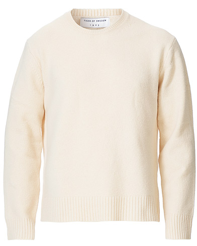 Tiger of Sweden Rennet Wool Crew Neck Pullover Cream i gruppen Kläder / Tröjor / Stickade tröjor hos Care of Carl (19286611r)
