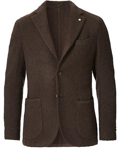 L.B.M. 1911 Jack Regular Wool Boucle Blazer Brown
