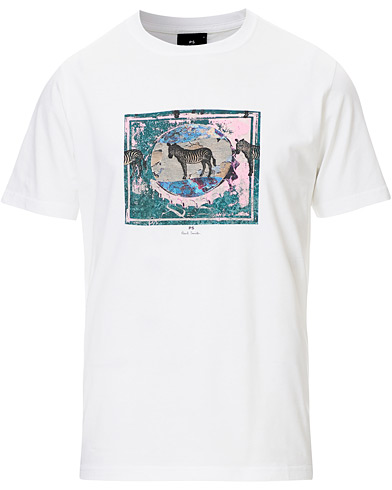 PS Paul Smith Framed Zebra Tee White i gruppen Kläder / T-Shirts / Kortärmade t-shirts hos Care of Carl (19400311r)