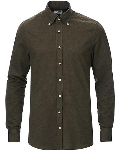 Stenströms Slimline Flannel Shirt Green