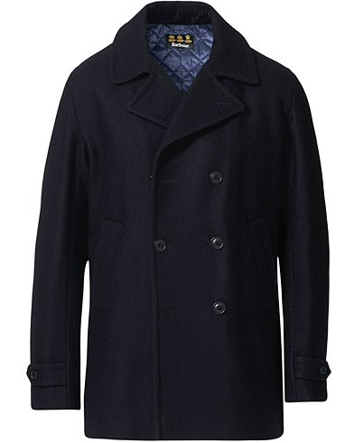 Barbour Lifestyle Denbigh Wool Peacoat Navy i gruppen Kläder / Jackor / Skepparkavajer hos Care of Carl (19540611r)