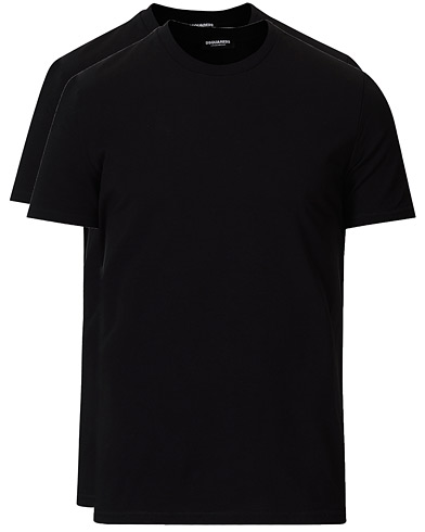 Dsquared2 2-Pack Cotton Stretch Crew Neck Tee Black i gruppen Kläder / T-Shirts / Kortärmade t-shirts hos Care of Carl (19565911r)