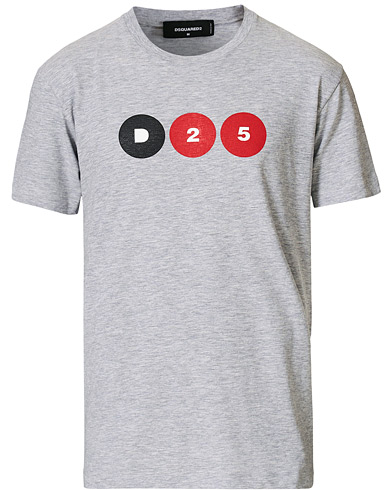 Dsquared2 25th Anniversary Capsule Collection Tee Grey i gruppen Kläder / T-Shirts / Kortärmade t-shirts hos Care of Carl (19575811r)