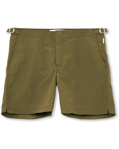 Orlebar Brown Bulldog Medium Length Swim Shorts Olive