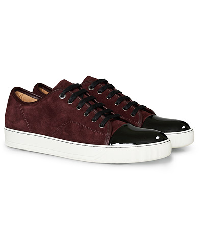Lanvin Patent Captoe Sneaker Burgundy i gruppen Skor / Sneakers hos Care of Carl (19700711r)