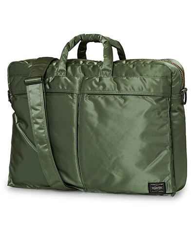 Porter-Yoshida & Co. Tanker 2Way Briefcase Sage Green