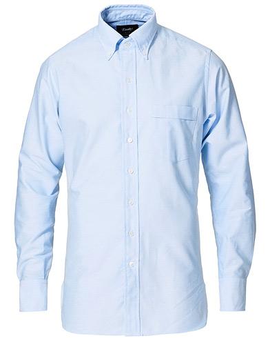 Drake's Oxford Button Down Shirt Sky