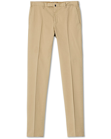 Incotex Slim Fit Stretch Chinos Beige i gruppen Kläder / Byxor / Chinos hos Care of Carl (20060211r)