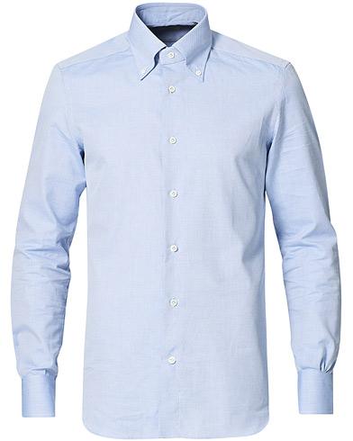 Mazzarelli Soft Oxford Button Down Shirt Light Blue