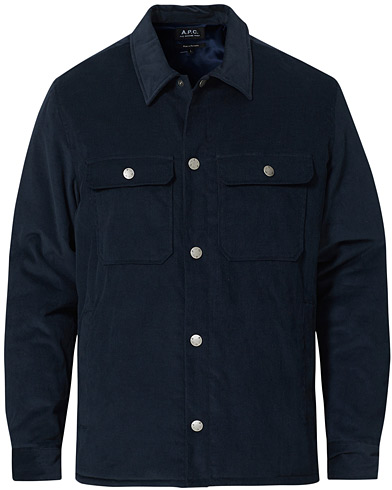 A.P.C. Alex Shirt Jacket Navy i gruppen Kläder / Jackor / Tunna jackor hos Care of Carl (20432711r)