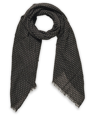 Amanda Christensen Classic Spot Printed Wool Scarf Grey i gruppen Accessoarer / Scarves hos Care of Carl (20434010)