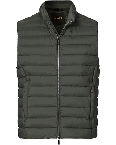 MooRER Padded Down Vest Forest i gruppen Kläder / Västar hos Care of Carl (20666611r)