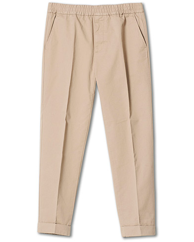 Filippa K Terry Cotton Cropped Turn Up Trousers Desert Taupe i gruppen Kläder / Byxor / Chinos hos Care of Carl (20743811r)