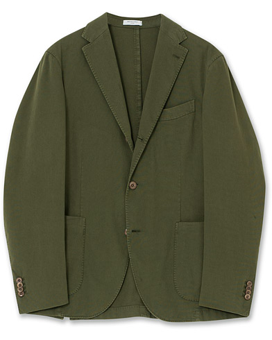 Boglioli Coat Patch Pocket Stretch Cotton Blazer Dark Green 48 i gruppen Care of Carl Pre-owned hos Care of Carl (V12601012001)