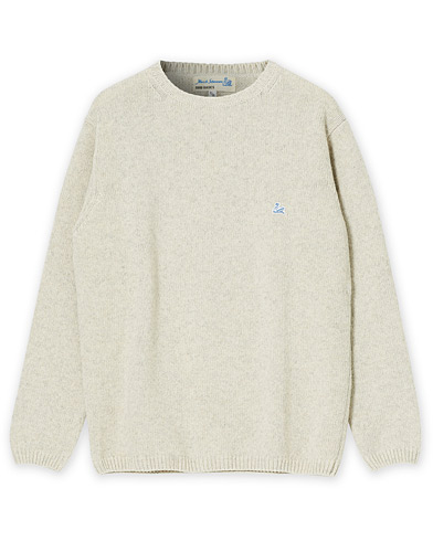 Merz b. Schwanen Relaxed Recycled Wool Crew Neck Sweater Nature XL i gruppen Care of Carl Pre-owned hos Care of Carl (V16445514001)