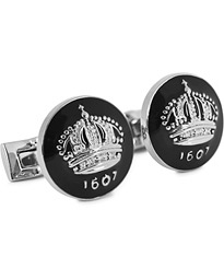 Cuff Links The Crown Silver/Baroque Black
