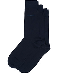 GANT 3-Pack Solid Jersey Socks Navy