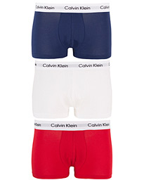Cotton Stretch Trunk 3-pack Red/Blue/White