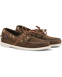Sebago Docksides Boat Shoe Dark Brown Nubuck