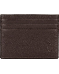 Pebble Leather Slim Card Case Brown