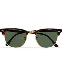 Clubmaster Sunglasses Mock Tortoise/Crystal Green